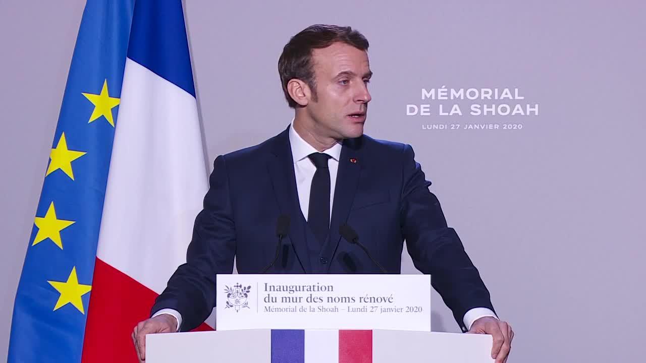 27 janvier 2020 : inauguration par le Président Emmanuel Macron du Mur des Noms rénové